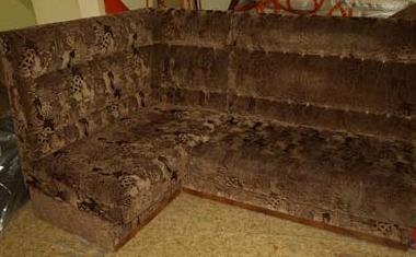 Перетяжка углового дивана до