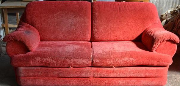 Перетяжка диван вельвет до