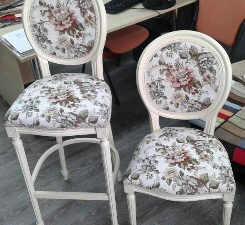 Замена обивки стула после
