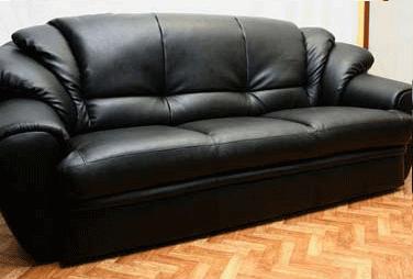 Перетяжка дивана экокожа после