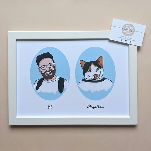 Pet and Owner Custom Illustration