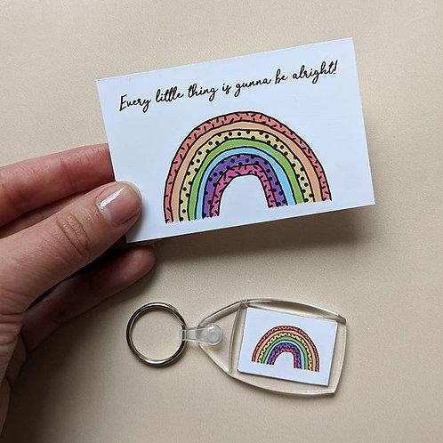 Rainbow Keyring & Small Print