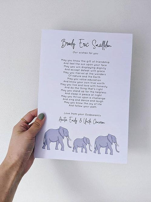 Elephant Print - Add Own Text