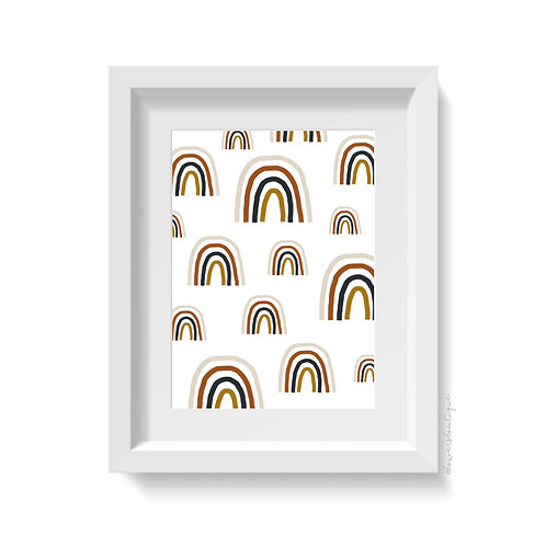 Boho Rainbow Print - Multiple