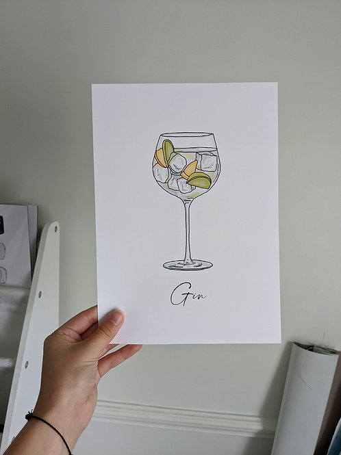 A4 Gin & Tonic Print
