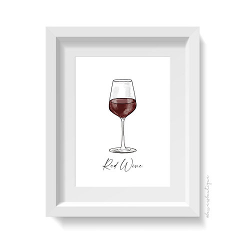 Red Wine Print