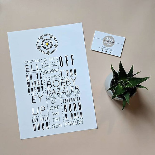 Yorkshire Dialect Slang Print