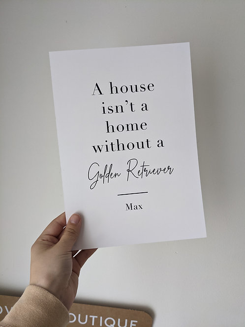 A4 Home Without a Golden Retriever - Max