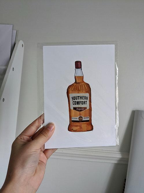 A5 Southern Comfort Bottle Illustration