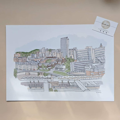 City of Sheffield Skyline