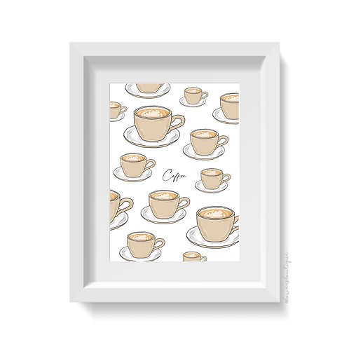 Cup of Coffee Print - Multiple