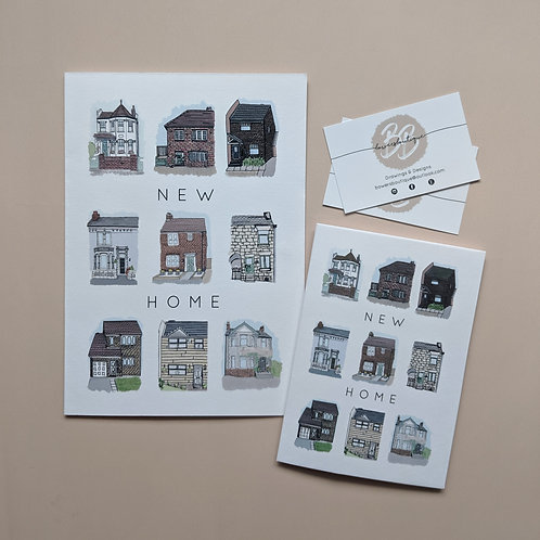 New Home Greetings Card A5 & A6