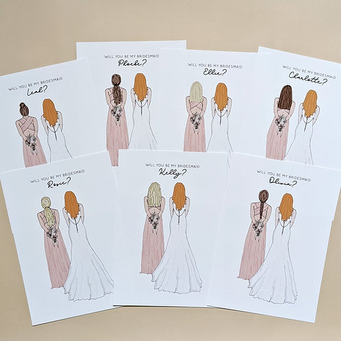 Customised Bridesmaid Proposal Print