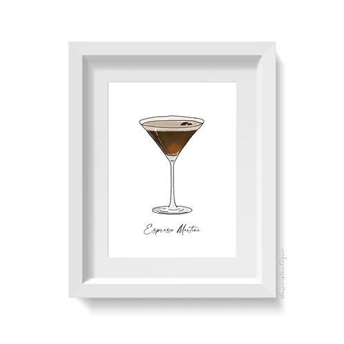 Espresso Martini Glass Print