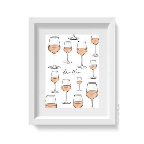 Rose Wine Print - Multiple