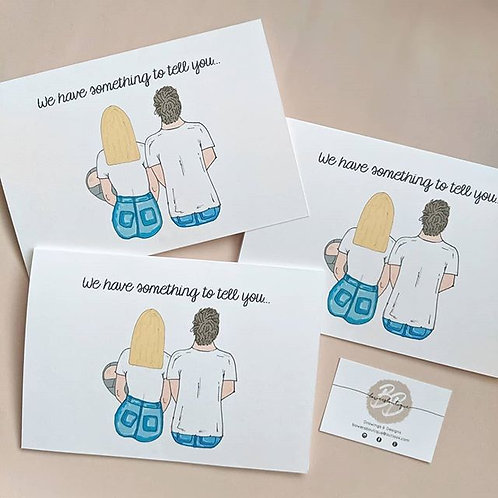 Personalised Print Greetings Card