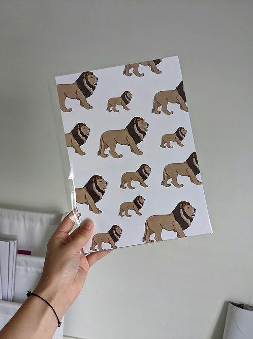Lion A4 Print