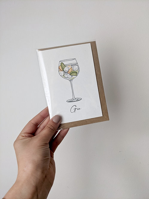 Gin Greetings Card