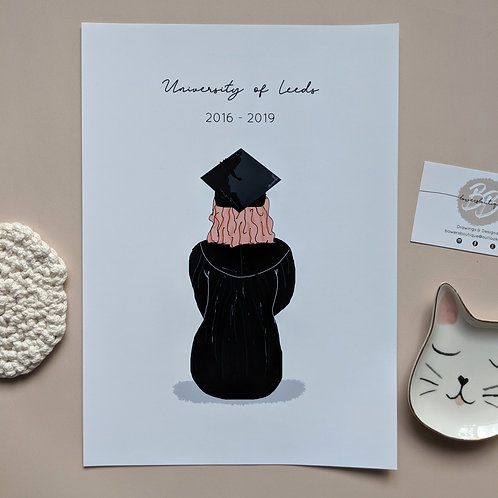 Graduation Gift, Personalised Print