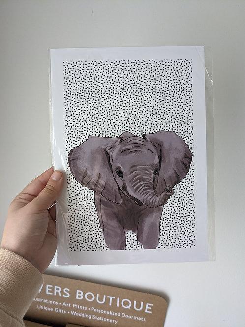 A4 Elephant Dot Print - Dents