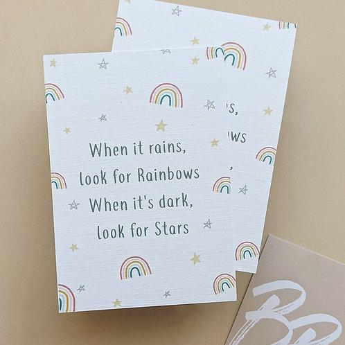 Positivity Card - Rainbows & Stars