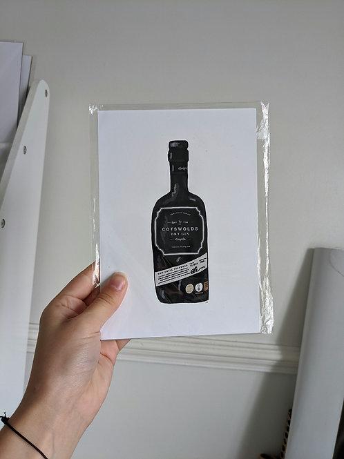 A5 Cotswolds Bottle Illustration