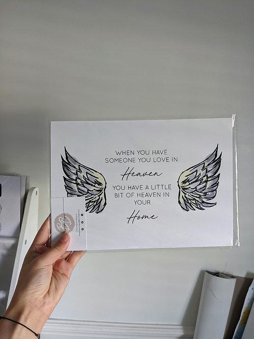 Heaven Angel Wings - A4