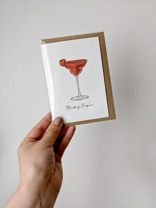Strawberry Daiquiri Greetings Card