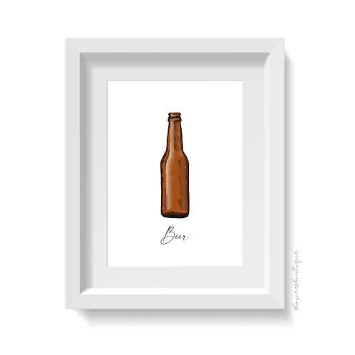 Beer Bottle Print