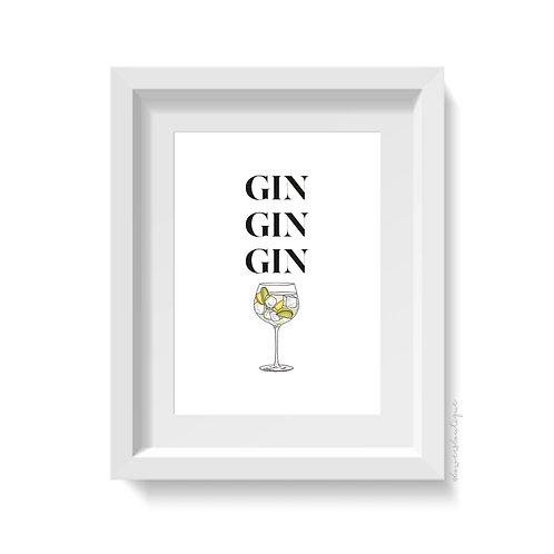 Gin Gin Gin Print