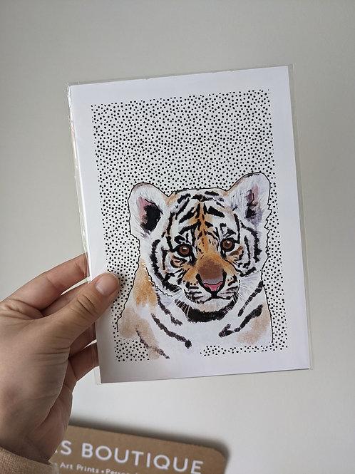 A5 Tiger Dot Print - Dents in top edges