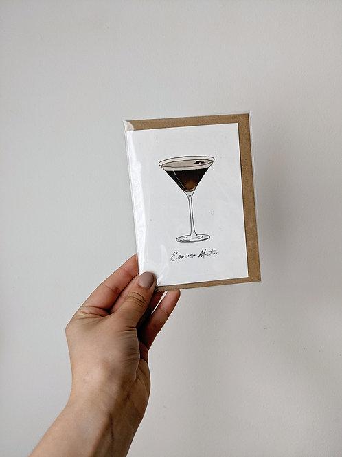 Espresso Martini Greetings Card
