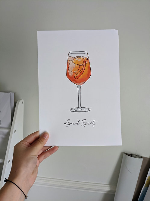 A4 Aperol Spritz Print