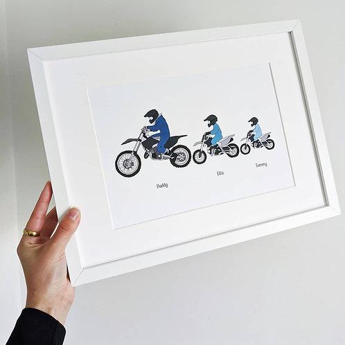 Custom Motocross Print