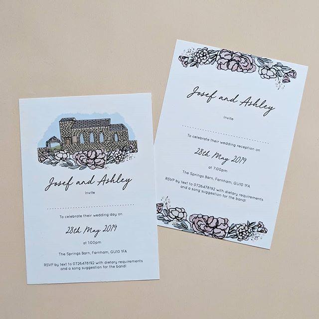 Wedding Venue Illustration Invites