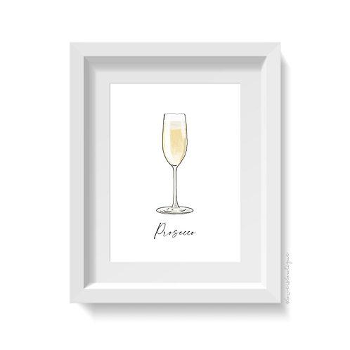 Prosecco Glass Print