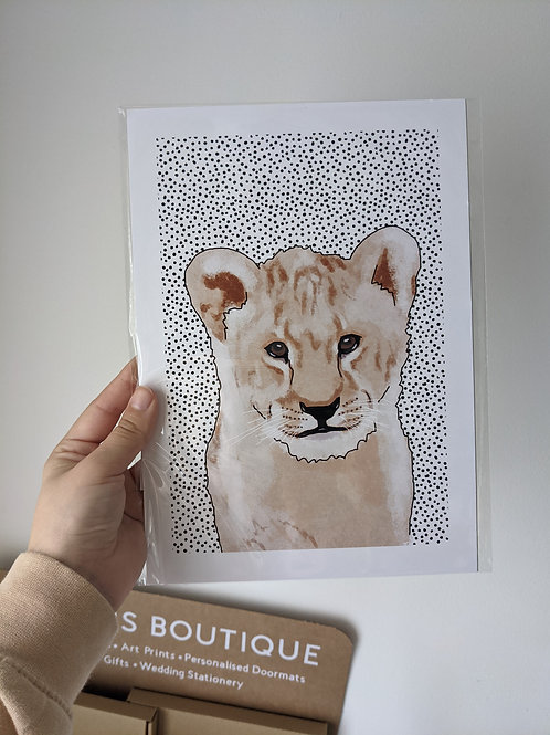 A4 Lion Dot Print - Dents