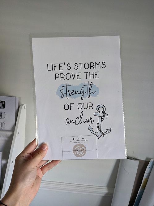 Life's Storms A4 Print