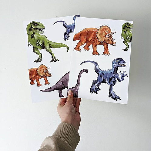 Dinosaur Prints - Collection of 2