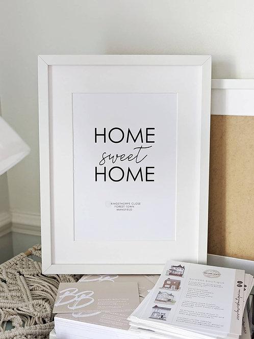 Home Sweet Home - Custom Address