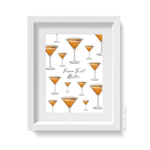 Passion Fruit Martini Print - Multiple