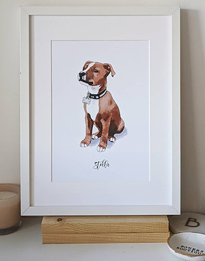 Quirky Pet Portrait Illustration