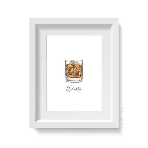Whisky Glass Print