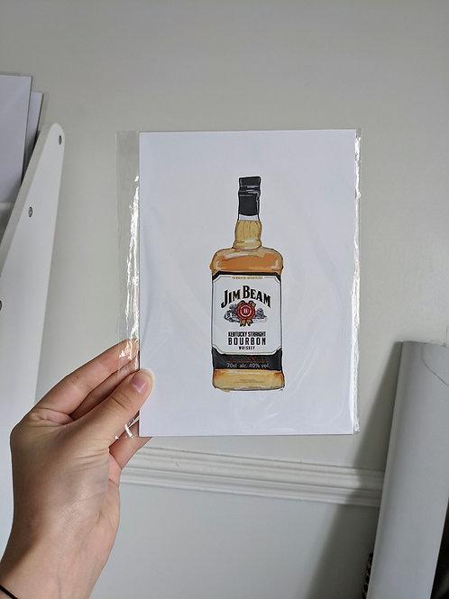 A5 Jim Beam Bottle Illustration