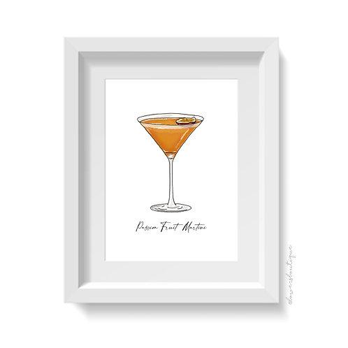 Passion Fruit Martini Print
