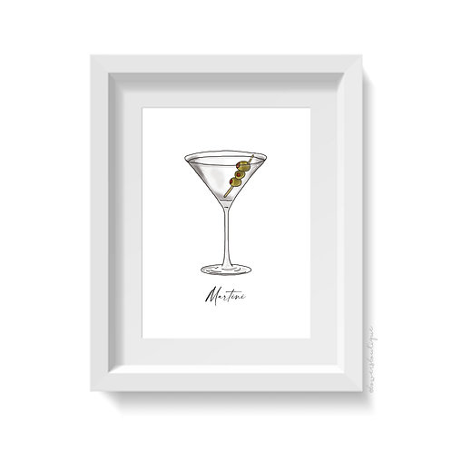 Martini Glass Print