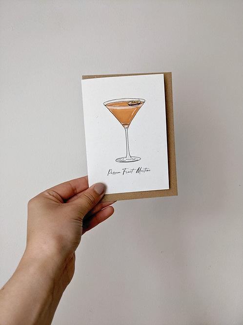 Passion Fruit Martini Greetings Card