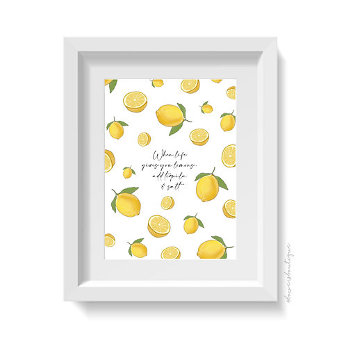 Lemon Life Tequila Print