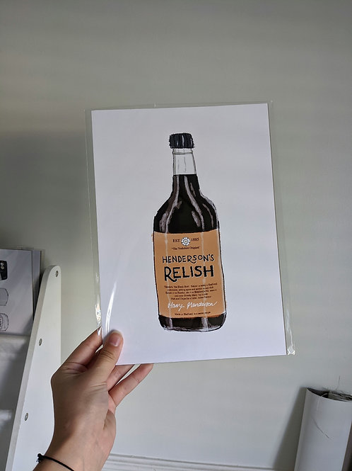 Henderson's Relish Bottle - A4