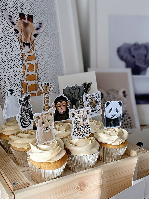 Baby Animal Cupcake Toppers